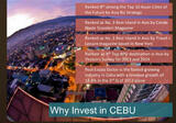 Invest in the FASTEST GROWING property market in Philippines-CEBU is now experiencing extraordinary growth