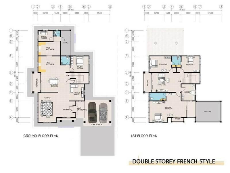 Double Storey French Style